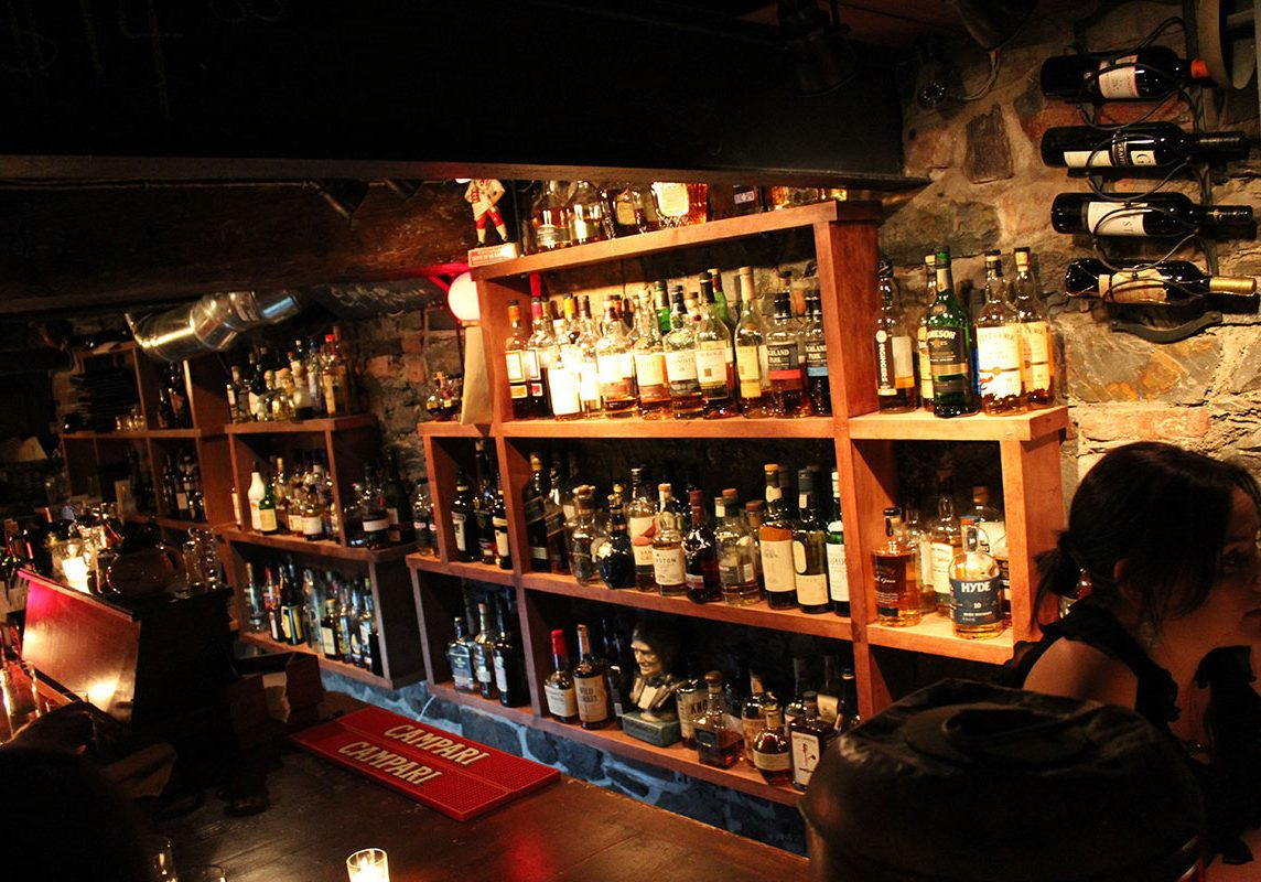 The UnderBelly's well-stocked bar