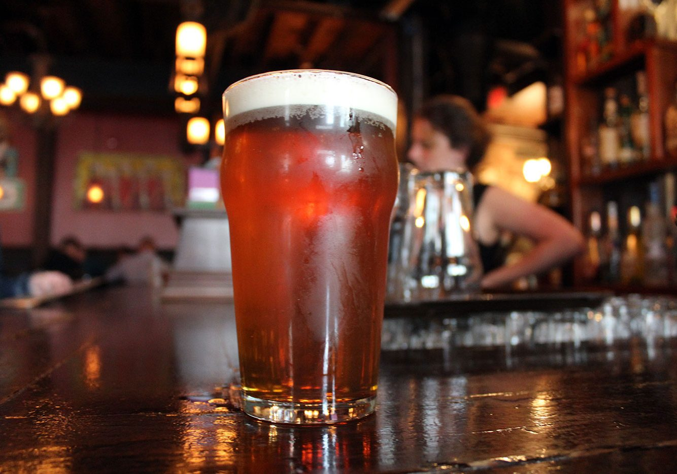 YellowBelly Brewery craft beer pint