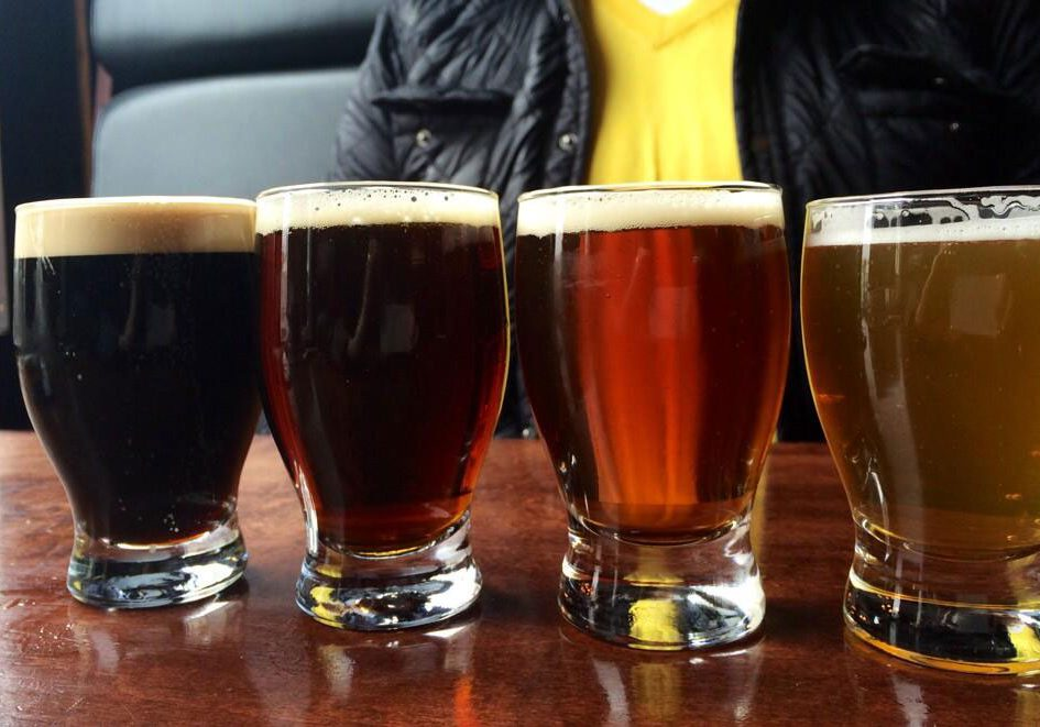 YellowBelly Brewery craft beers sampler